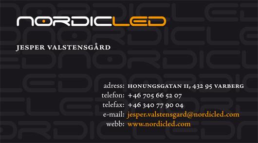 Visitkort Nordic LED