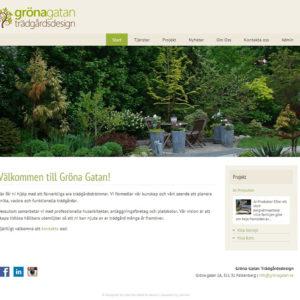 Webb Gröna Gatan Trädgårdsdesign